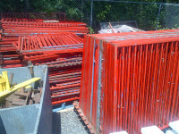 Red Steel Fence