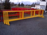 Yellow + Red Crowd Control Barriers