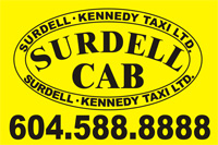 Surdell Cab Logo
